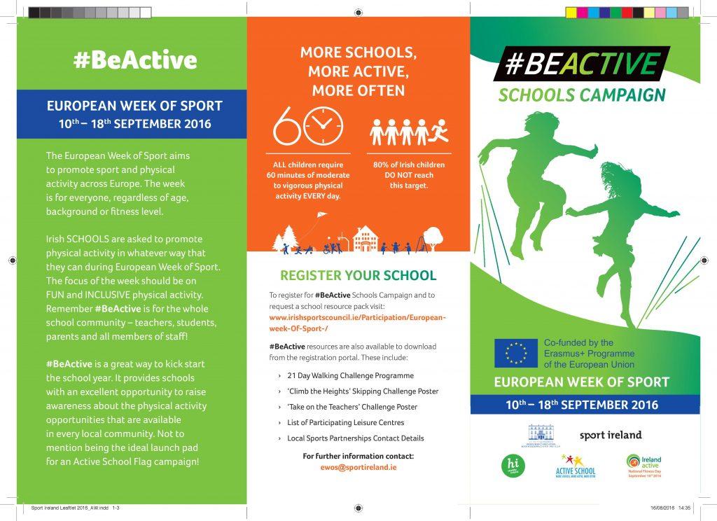 BEACTIVE School Campaign 2016